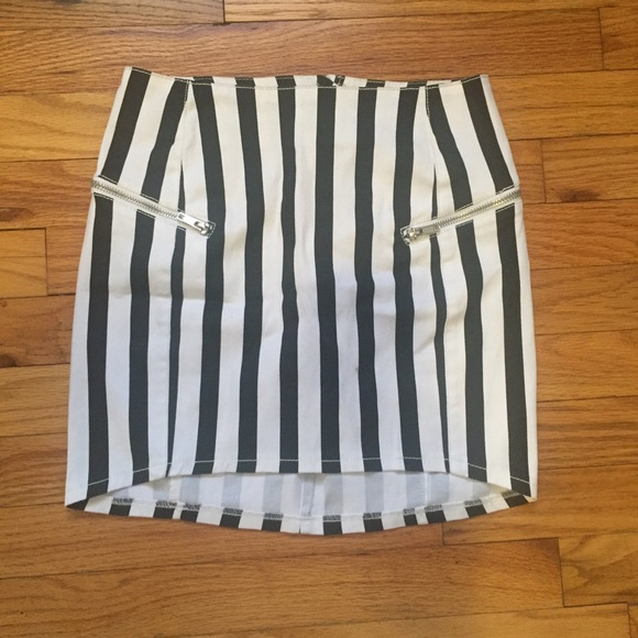 1c84bfe59 H&M Skirts | Divided By Hm Black White Striped Mini Skirt | Poshmark